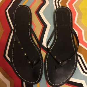 Jcrew Capri leather thong sandals
